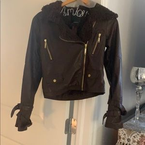 Therapy Brown Leather Jacket